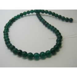 Jade Round Beads Dyed Dark Green 6 mm - 10 pcs