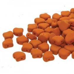 Ginkgo Leaf Bead 7,5 x 7,5 mm Matte Velvet Carrot - 5 g