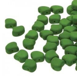 Ginkgo Leaf Bead 7,5 x 7,5 mm Matte Velvet Lizard Green - 5 g