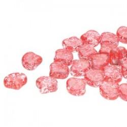 Ginkgo Leaf Bead 7,5 x 7,5 mm Confetti Splash Red Pink - 5 g