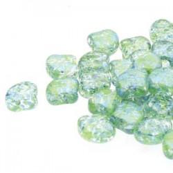 Ginkgo Leaf Bead 7,5 x 7,5 mm Confetti Splash Blue Green - 5 g