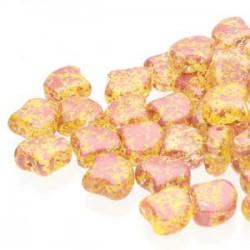 Ginkgo Leaf Bead 7,5 x 7,5 mm Confetti Splash Red Yellow - 5 g