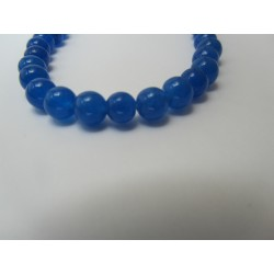 Jade Round Beads Dyed Blue 6 mm - 10 pcs