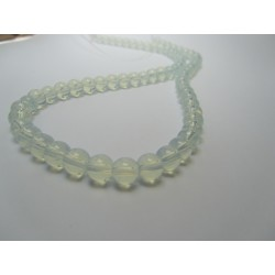 Jade Round Beads  Dyed Opalescent  6 mm - 10 pcs