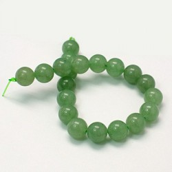 Green Aventurine Round  Beads  12 mm Light Green - 2 pcs