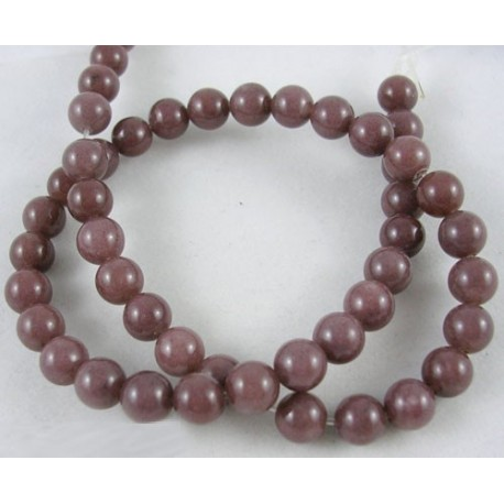 Purple  Aventurine Round  Beads  6 mm Coconut Brown -  10 pcs