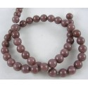 Purple  Aventurine Round  Beads  6 mm Coconut Brown - 1 Strand about 38-40 cm long