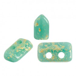 Piros® par Puca® 5x3 mm Opaque Green Turquoise Splash- 5 g
