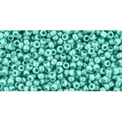 Rocailles Toho 15/0 Opaque Lustered Turquoise