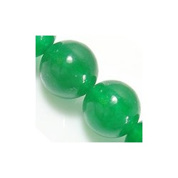 Malaysia  Jade Round Beads Natural Green 6 mm - 10 pcs