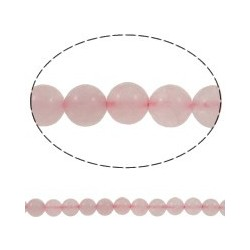 Rose Quartz Round Beads 8mm - 8 pcs