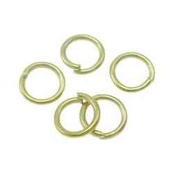 Anellini Aperti  6x1 mm   Color Oro - 50 pz
