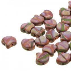 Ginkgo Leaf Bead 7,5 x 7,5 mm Matte Metallic Bronze Iris - 5 g