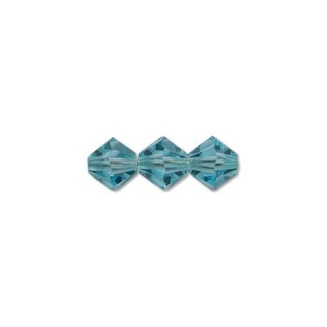 Preciosa Bicone 3 mm Aqua Bohemica - 40 pcs
