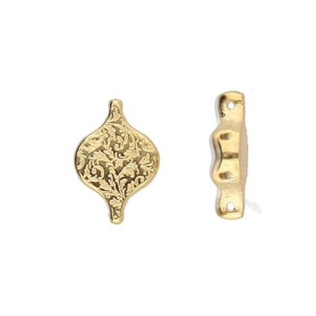 Cymbal Liotrivi Paisley Connector 24K Gold Plated - 2 pcs