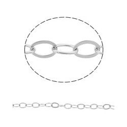 Stainless Steel Oval Chain  4x3x0,8 mm