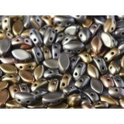 IrisDuo® 7 x 4 mm Brass Gold - 25 pcs