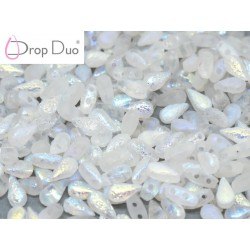 DropDuo 3 x 6 mm Crystal Etched Capri Gold Full - 40 Pz