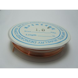 Copper Wire  1 mm  Original Color  -  2 m Spool