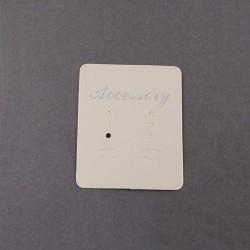 Espositore per Orecchini da appendere Cartoncino 55x45 mm Colore Avorio - 20 pz