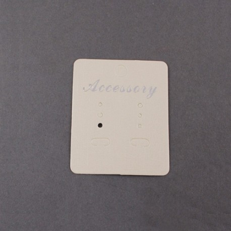 Earring Display Cards 55x45 mm Ivory - 20 pcs