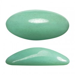Athos® par Puca® 3D Cabochon 20x10 mm Opaque Light Green Turquoise Luster - 2 pcs