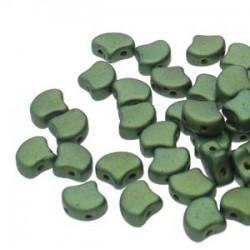 Ginkgo Leaf Bead 7,5 x 7,5 mm Opal Aqua Mat - 5 g