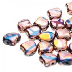 Ginkgo Leaf Bead 7,5 x 7,5 mm Crystal Full Vitrail - 5 g