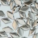 GemDuo 8 x 5 mm Silver Alluminium Mat - 5 g