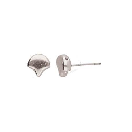 Cymbal Alopronia Ginko Earring Stud 24K Gold Plated - 2 pcs