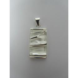 925 Sterling Silver Pendant  Rectangular 30x15 mm