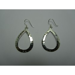 925 Sterling Silver Earrings Drop 37x25 mm