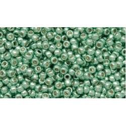 Toho Round 11/0 Permanent Finish Galvanized Mint Green