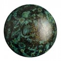 Cabochon par Puca® 25 mm Metallic Mat Green Spotted - 1 pc