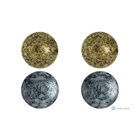 Cabochon par Puca® 18 mm Set N. 2 Spotted Colours - 1 pack
