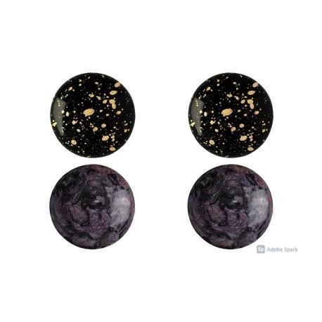 Cabochon par Puca® 18 mm Set N. 4 Spotted /Splash Colours - 1 pack