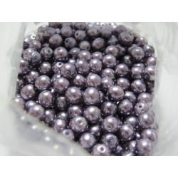 Glass Pearls  6 mm Lilac - 25 pcs