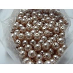 Glass Pearls  6 mm Light Pink - 25 pcs