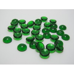 PIggy Beads  4x8 mm  Transparent Green -  30 pcs