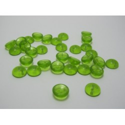 PIggy Beads 4x8 mm Transparent Light Olivine - 30 pcs