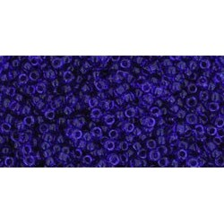 Rocailles Toho 15/0 Transparent Cobalt