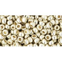 Toho Round 8/0 Permanent Finish Galvanized Aluminium