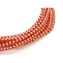 Glass Pearls 6 mm Salmon - 25 pcs
