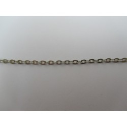 Oval Chain Platinum Color Plated 3x2 mm - piece of about 48-50 cm