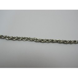 Oval Chain Platinum Color Plated Diameter about 2,5 mm - 1 m