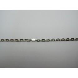 Catena Ovale Color Platino 2x3 mm - Spezzone da circa 48-50 cm