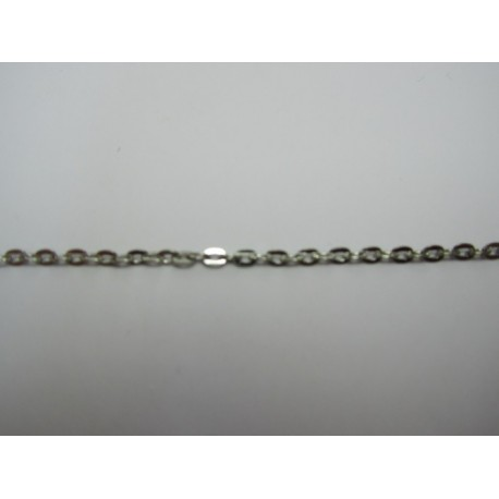 Oval Chain Platinum Color Plated 2x3 mm  - Piece of about 48-50 cm