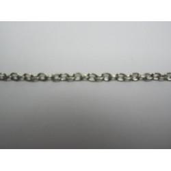 Catena Ovale Color Platino 2,5x3,5 mm - Spezzone da  circa 48-50 cm