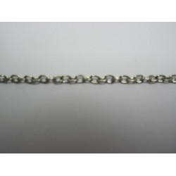 Oval Chain Platinum Color Plated 2,5x3,5mm - Piece of about 48-50 cm