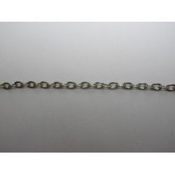 Oval Chain Platinum Color Plated 3x4 mm - Piece of about 48-50 cm